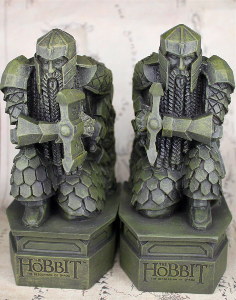Hobbit La montagne solitaire Erebor Lord of the Rings Toys scuplt nain Serre-livres