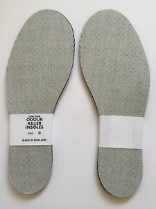 NEW. SIZE 4 MENS LADIES THIN ODOUR KILLER EATER PERFORATED  INSOLES