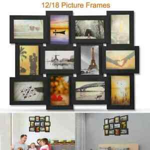 12/18 Photos Frame Collage Picture Frame Wall Hanging Gallery Display Home Decor