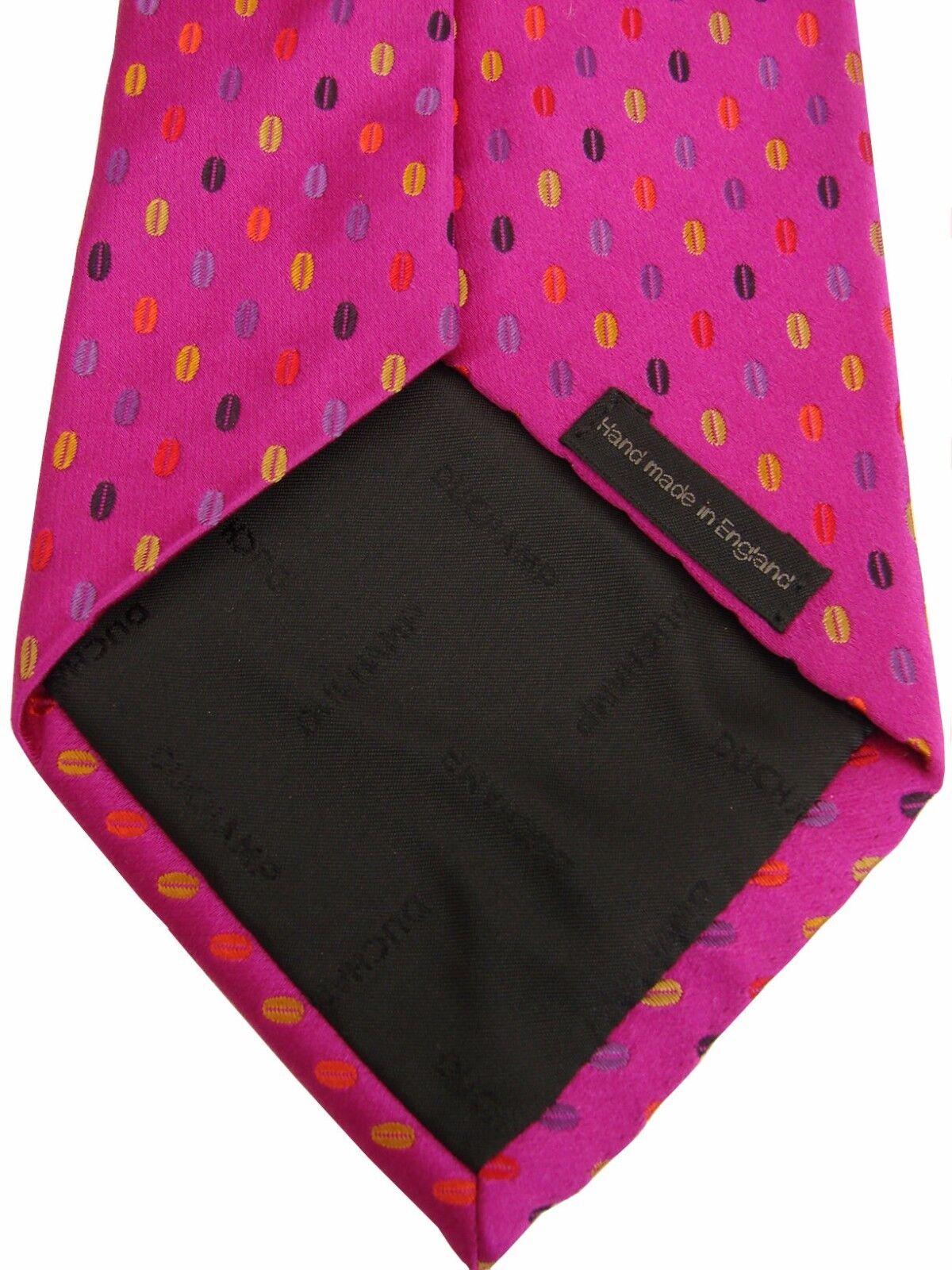 DUCHAMP LONDON LONDON LONDON Tie Fuchsia - Multi-Colourot Ovals | Perfekte Verarbeitung  372d84