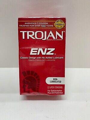 Trojan ENZ Non-Lubricated 12 Latex Condoms Expires 07/01