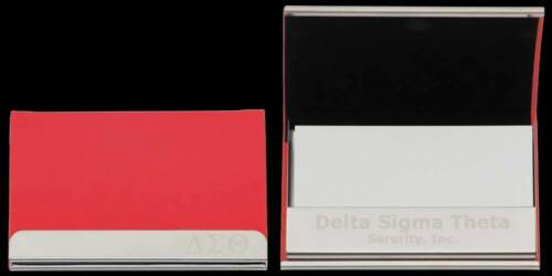 Delta Sigma Theta Sorority Business Card Holder-New!
