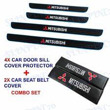 Blue B Car Door Scuff Sill Cover Panel Step Protector Combo For Mitsubishi 4pcs Fits 1999 Mitsubishi Mirage