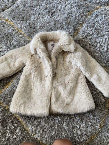 Girls Fur Coat Age 18-24 Months