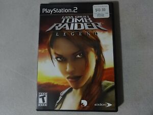Laura Croft Tomb Raider Legend Playstation 2 Ps2 Game Complete