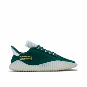 Hommes-Adidas-Originals-Kamanda-a-Lacets-en-Cuir-Double-Baskets-en-vert