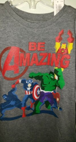 NEW Old Navy Boys 2T 5T Marvel Avengers Long Sleeve Tee T-Shirt Gray #32119