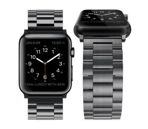 For-iWatch-Apple-Watch-Series-3-2-1-42mm-Stainless-Steel-Wrist-Band-Strap-Black