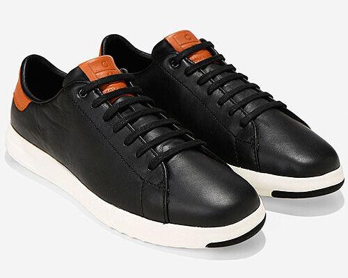 Cole Haan Tenis Hombre grandpro zapatilla de deporte Con Cordones Talla 10M Negro Cuero precio minorista sugerido por el fabricante  150