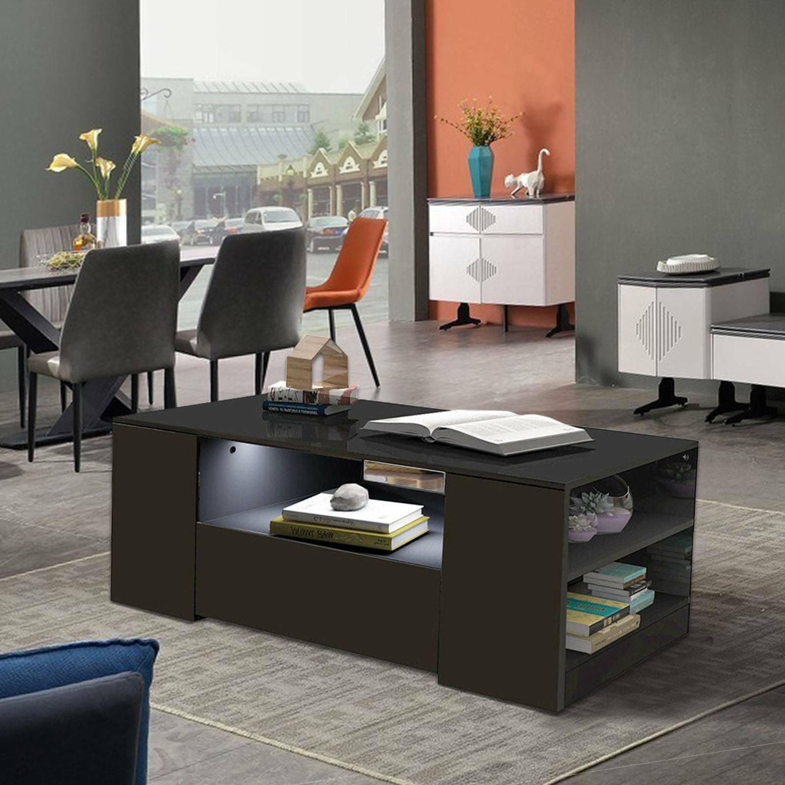High Gloss White Adjustable Swivel Modern Coffee Table Living Room Furniture For Sale Ebay