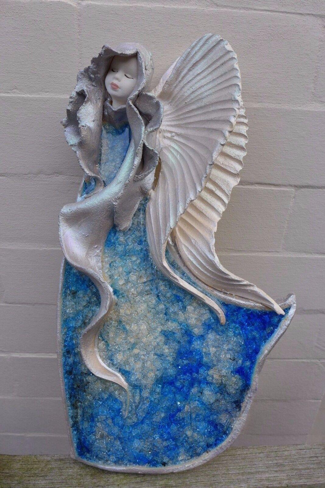 Ceramic Angel hanging art handmade handcrafted beautiful Farbes farm shop 06-02