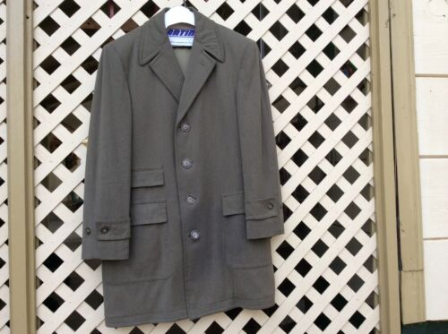 VINTAGE MEN'S WOOL FULL LENGHT COAT ALEXANDRE OF O