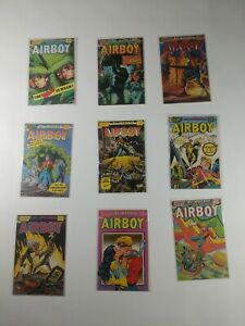 Lot Of 9 Eclipse Comics Airboy Comic Books Heap Manic Mr Monster