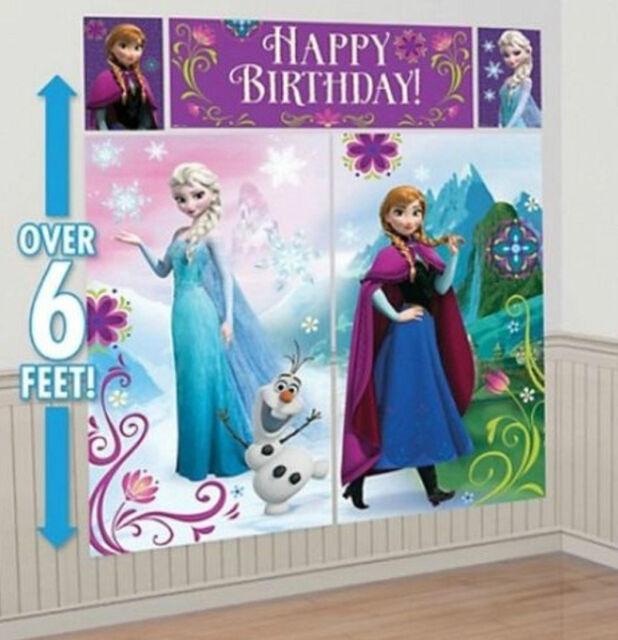 Disney Frozen 5 Piece Scene Setter Birthday Party Over 6ft!