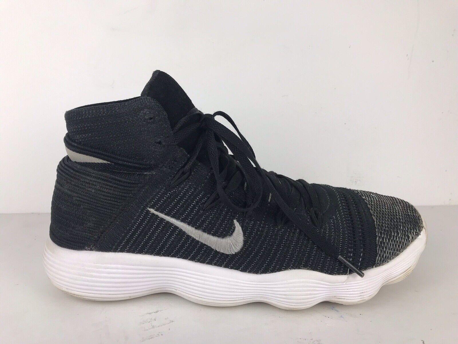 Nike Hyperdunk Flyknit 2017 Mens Size 10.5 Black and White 917726 001