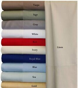 Royal Hotel Twin Extra Long Gray Silky Soft Bed Sheets 100% Bamboo Viscose Sheet
