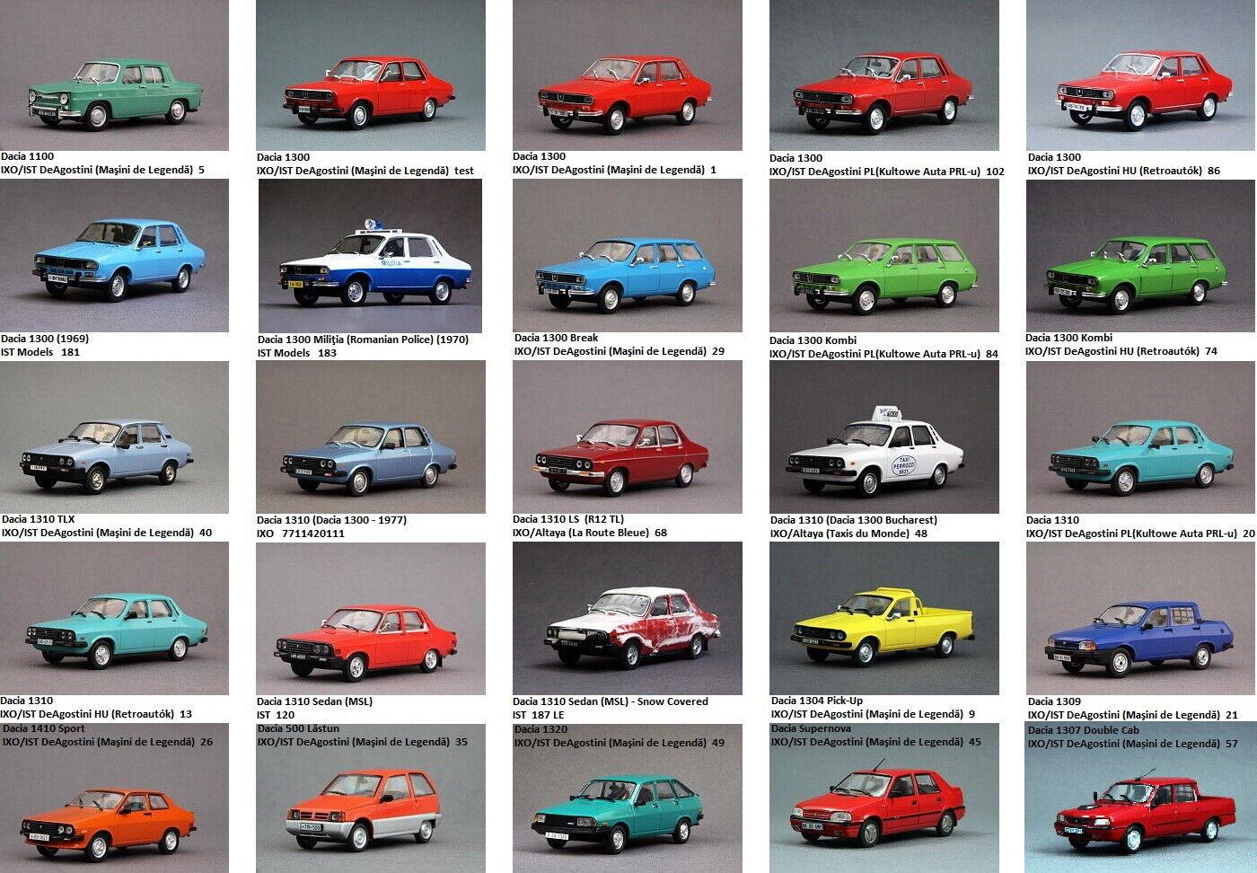 Lot of 56 pcs. of Dacia 1300 1310 1410 Break 1 43 (not Renault 12)