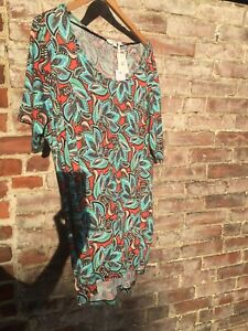 NWT-WOMENS-ROSE-OLIVE-PLUS-SIZE-SUMMER-MULTICOLOR-TOP-BLOUSE-2X