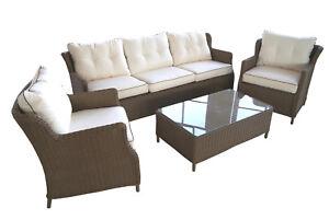 Polyrattan-Lounge-Set-Garnitur-Sitzgruppe-Elegant-Komfortabel-Gartenmoebel
