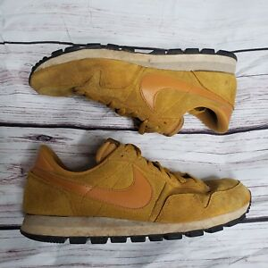 quality design 605ea 5a8d2 Image is loading Nike-Air-Pegasus-83-Gold-Suede-Mens-Shoes-