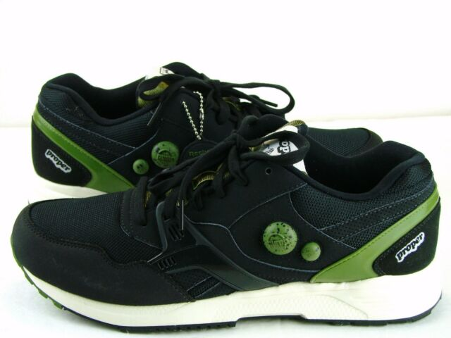 Reebok Mens Pump Running Dual Shoes Sz 10 Proper Navy Olive Hexalite Classic