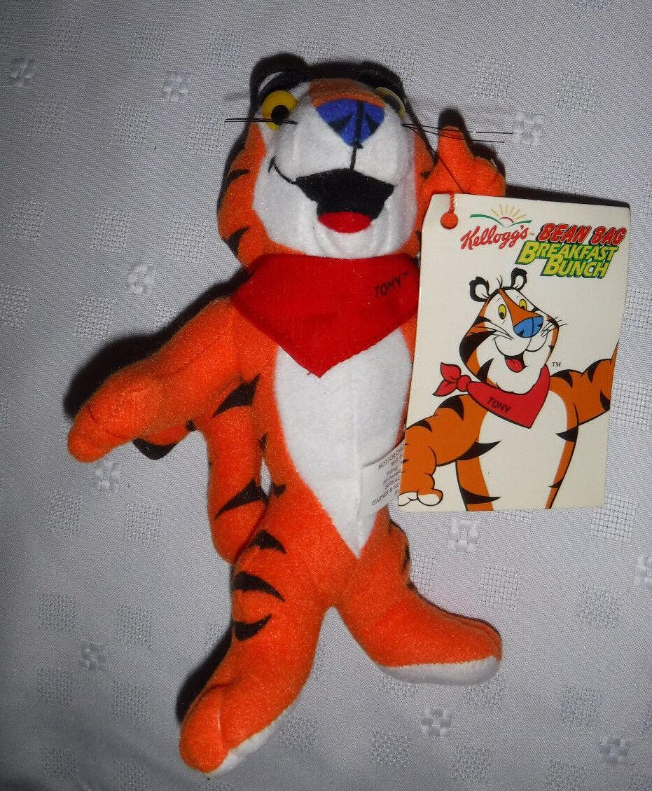 Kellogg's Bean Bag Tony Tiger 8  Plush Soft Toy Stuffed Animal