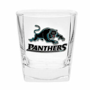 NRL-Drink-Glass-Set-Penrith-Panthers-Gift-Boxed-Metal-Badged-Set-Of-Two
