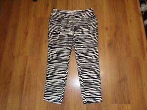 Ankle Silk 40 Print taglia Straight Zebra Malene Birger Pants Di EwqY4z