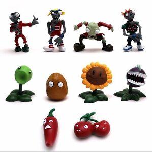 10Pcs Juegos De Plantas Vs Zombies 1 Series Juguete de PVC Figura Muñeco Niño Juguete Regalo De Navidad