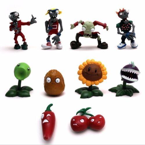 10x Piante Vs Zombie 1 SERIE GIOCHI GIOCATTOLO PVC doll figure Kid giocattolo regalo di compleanno