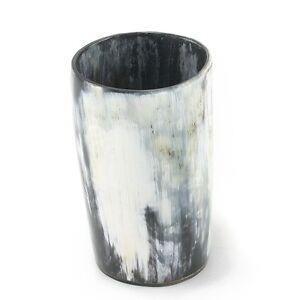 Ox Horn Beaker Cup Mug Glass Drinking Vessel Viking Ox horn with Horn base