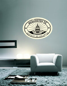 Details About Washington Dc Travel Wall Decal Large Vinyl Sticker 25 X 20
