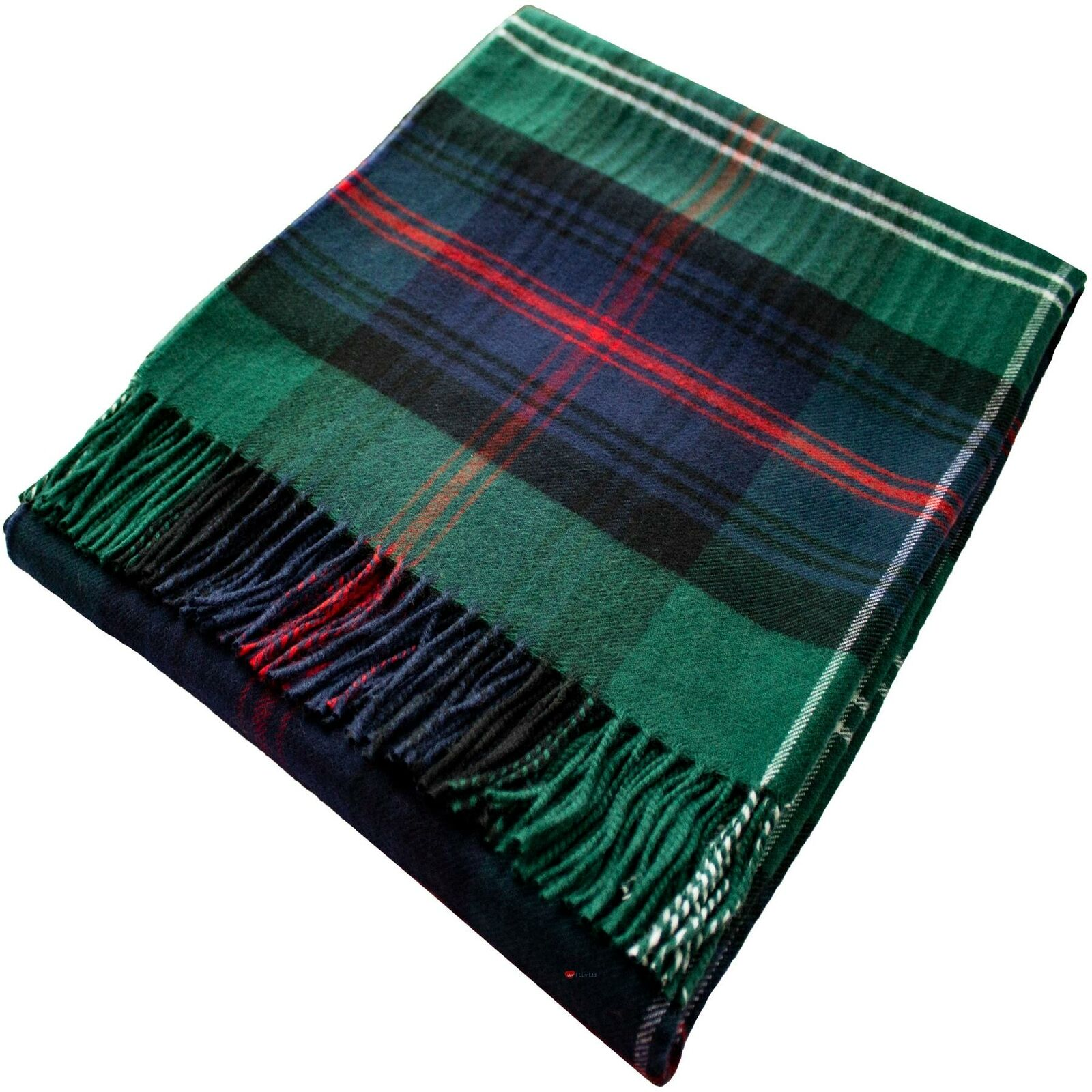 Lambswool Blanket Sutherland Old Modern Tartan Plaid 100% Soft Wool