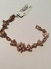 New Givenchy Rose Gold-Tone Multi-Crystal Flex Link Bracelet $68 #913A