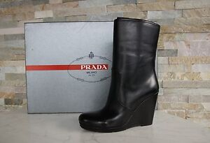 Former Gr Black Bottines Uvp Bottines 38 660 Prada 3uz005 Bottes New Chaussures qnUwTngz