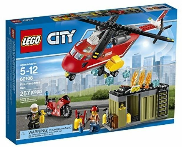 60108 FIRE RESPONSE UNIT lego city town NEW legos set HELICOPTER sealed