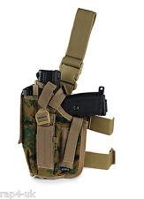 Tactical Drop Leg Left Hand Pistol Holster (MARPAT Camo) Fits TiPX [DL1]