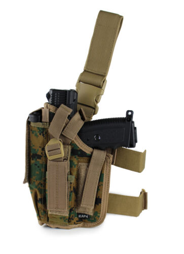 marpat camo Tactical drop leg main gauche pistolet holster DL1 s/'adapte tipx