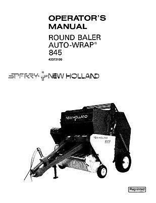 New Holland 845 Baler Operators Manual EBay