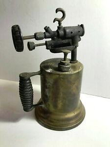 Vintage-Brass-Gasoline-Blow-Torch-Unknown-Manufacturer-Model-245-1930-039-s