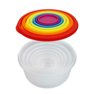 Rainbow-Color-Round-Plastic-Food-Storage-Containers-with-Lids-7Pcs-Set