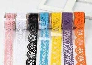 5pcs-Lace-Roll-DIY-Washi-Paper-Decorative-Sticky-Masking-Tape-Self-Adhesive