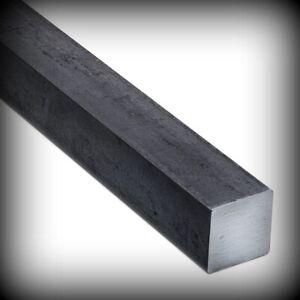 Edelstahl Vierkantrohr 40 x 20 x 2 mm L 300-1600 mm V2A geschliffen 1.4301