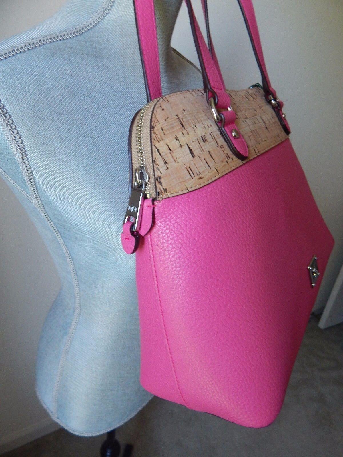 0edaeb87f2 Ralph Lauren Hanway Cork Faux Leather Dome Satchel Light Azalea Pink  Handbag for sale online