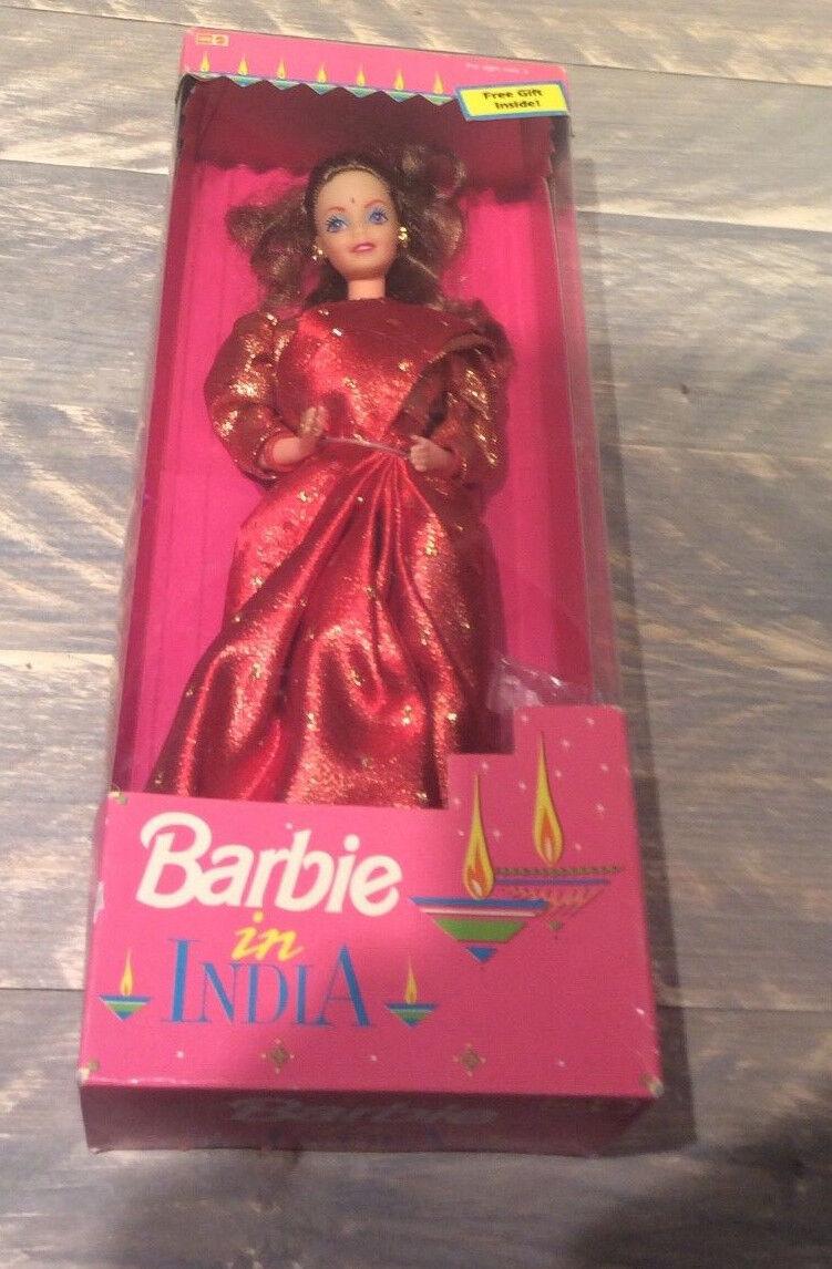 Leo Mattel Barbie doll in India NRFB Indian rot sari