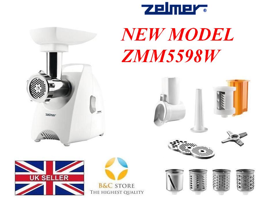 Nouveau Zelmer ZMM5598W meat mincer Shrougeder nouvelle édition 987.98 Shrougeder Cutter