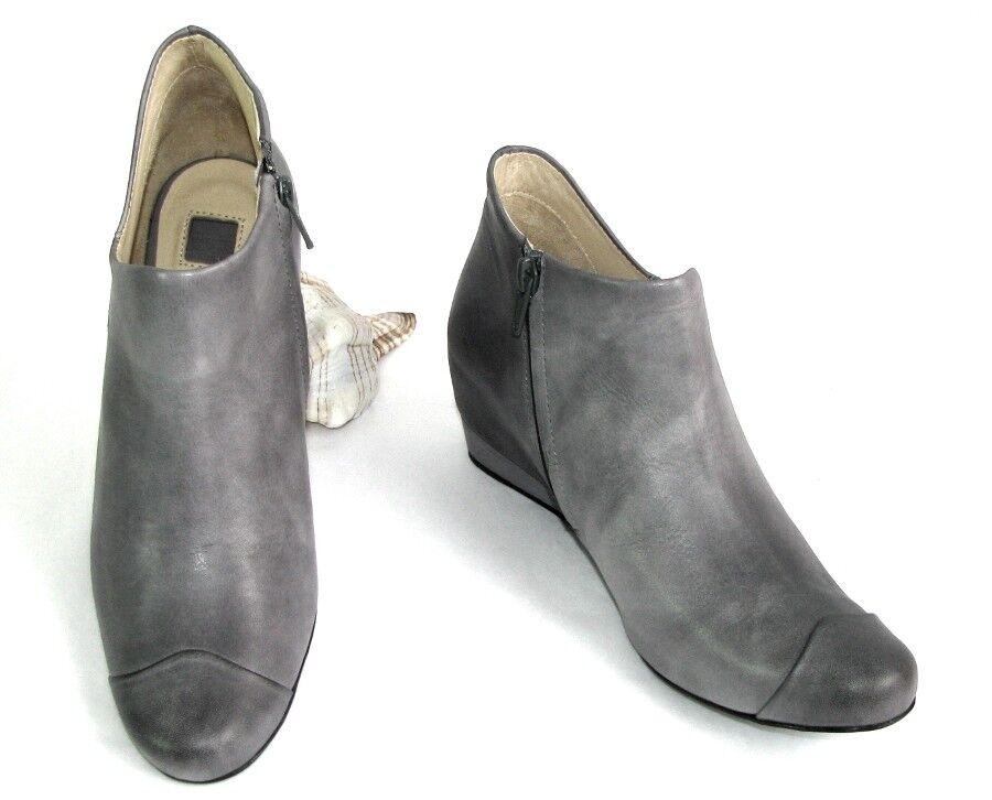M + F GIRBAUD - Stivali bassi zeppe pelle grigio tintura 37 - NUOVO SCATOLA | Numeroso Nella Varietà  | Maschio/Ragazze Scarpa