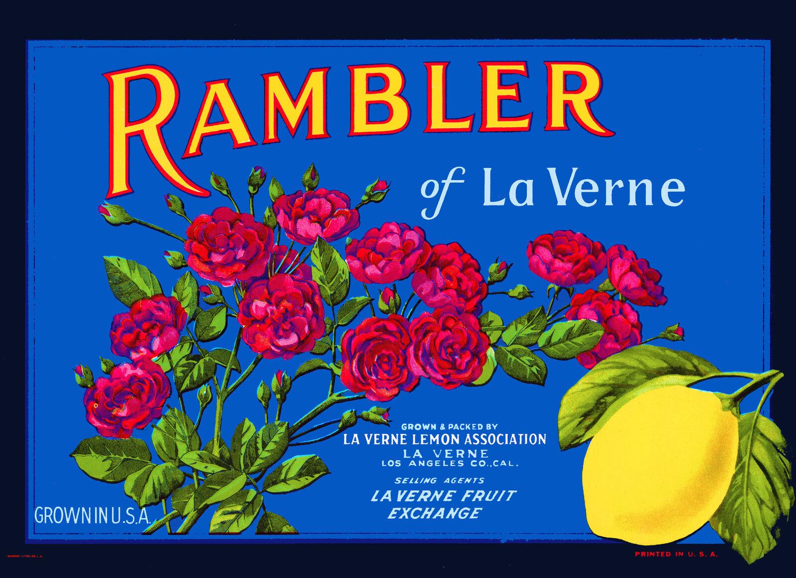 Lordsburg La Verne Heights Los Angeles Orange Citrus Fruit Crate Label Art Print