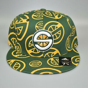 Seattle-Sonics-Supersonics-adidas-NBA-Bravado-Men-039-s-Fitted-Cap-Hat-Size-7-1-8