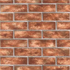 Brick Wallpaper Textured Red / Orange 44145